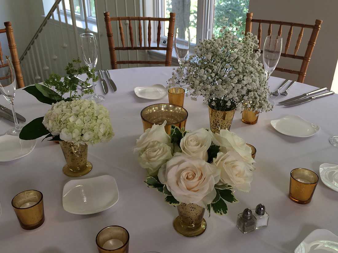 Green Ferns and Moss: Pomme Radnor, Tish Long Wedding Flowers