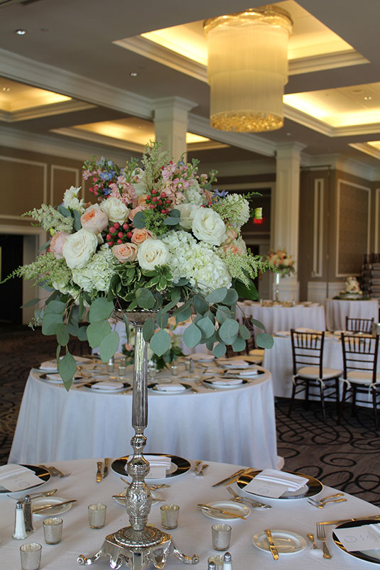 Blue and Pink and Moss: Philadelphia Country Club, Tish Long Wedding Flowers