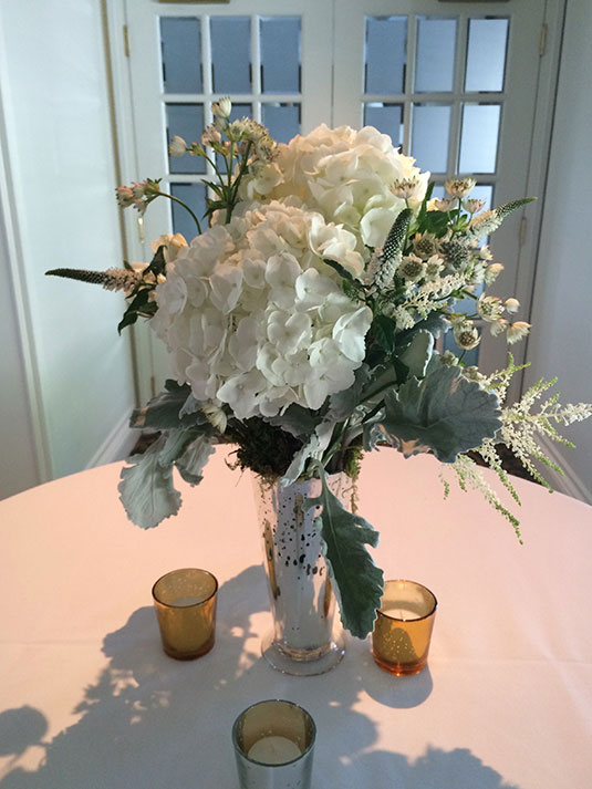 Cream and Silver and Moss: Philadelphia Country Club, Tish Long Wedding Flowers