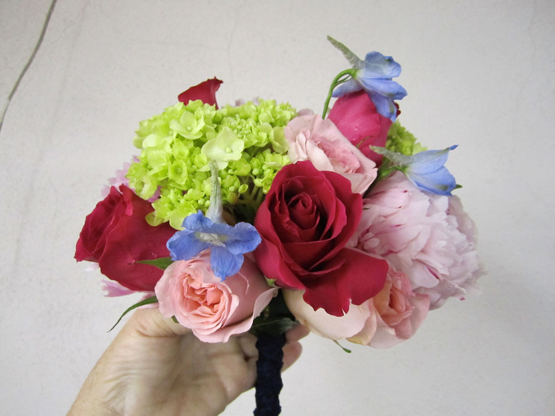 Bright Bouquets: Private Home, Tish Long Wedding Flowers