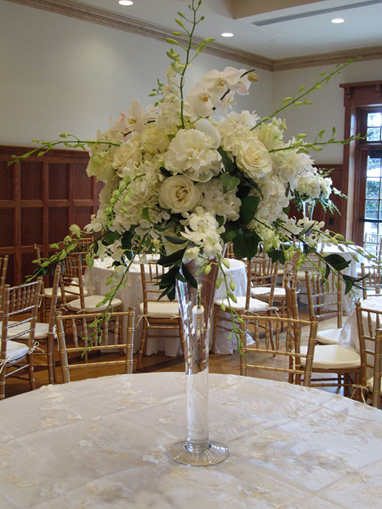 White Orchids: Aronimink Golf Club, Tish Long Wedding Flowers