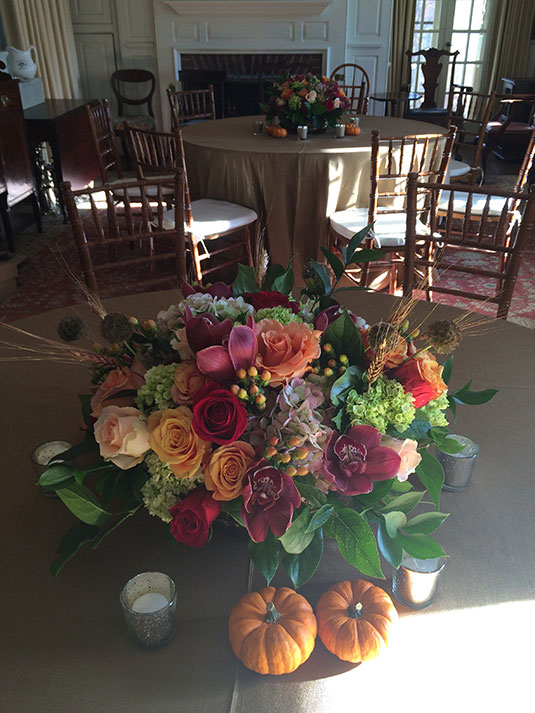 Burgundy and Purple Fall: Private Home, Tish Long Wedding Flowers