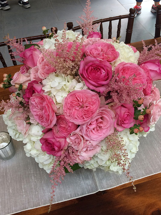 Hot Pink Garden Roses: Merion Golf Club, Tish Long