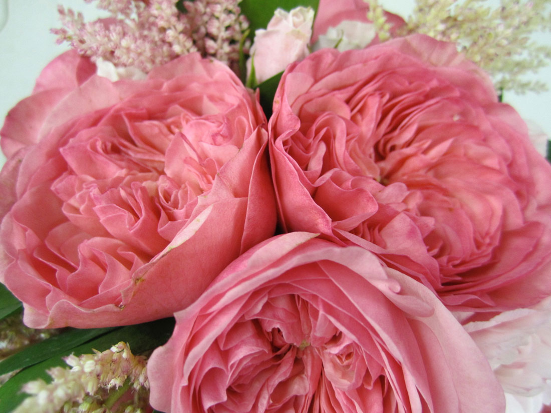 Pink Garden: Overbrook Golf Club, Tish Long Wedding Flowers